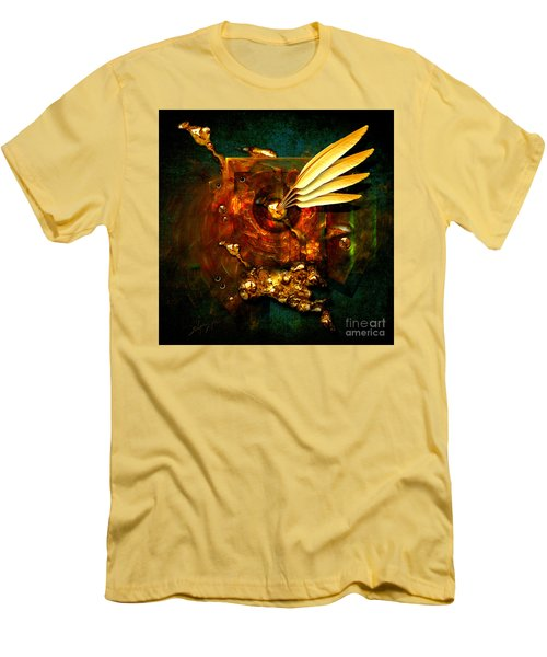 Men's T-Shirt (Slim Fit) featuring the painting  Gold Inkpot by Alexa Szlavics