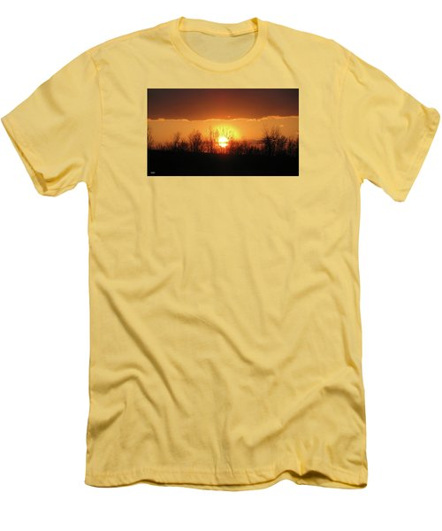 Men's T-Shirt (Slim Fit) featuring the photograph Golden Arch Sunset by Debra     Vatalaro