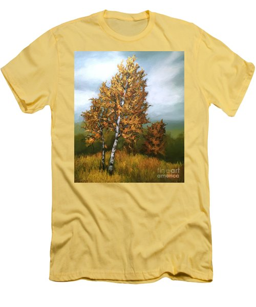 Golden Birch Men's T-Shirt (Athletic Fit)