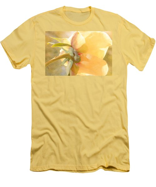 Golden Bowl Tree Peony Bloom - Back Men's T-Shirt (Athletic Fit)