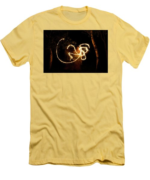 Golden Dragon Men's T-Shirt (Slim Fit) by Ellery Russell