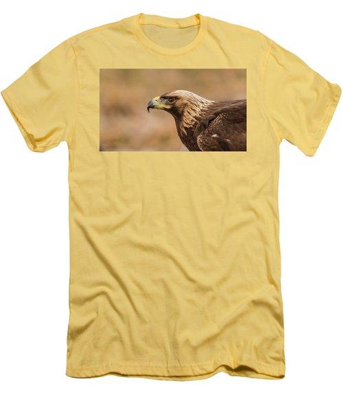 Golden Eagle's Portrait Men's T-Shirt (Slim Fit) by Torbjorn Swenelius