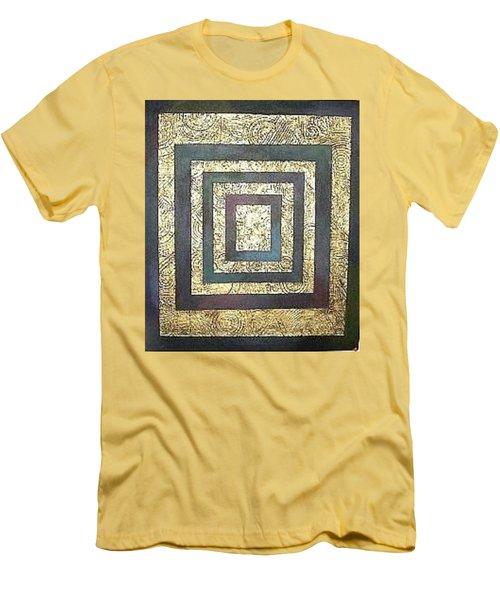 Men's T-Shirt (Slim Fit) featuring the painting Golden Fortress by Bernard Goodman