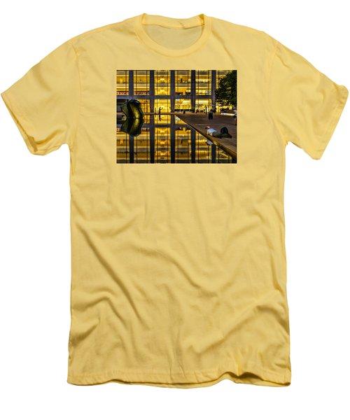 Golden Grid Men's T-Shirt (Slim Fit) by Jeffrey Friedkin