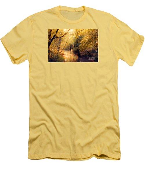Men's T-Shirt (Slim Fit) featuring the photograph Golden Light by Geraldine DeBoer