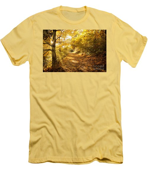 Golden Rays Of Autumn Men's T-Shirt (Athletic Fit)