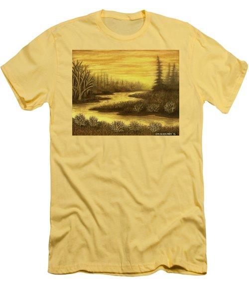 Golden River 01 Men's T-Shirt (Athletic Fit)