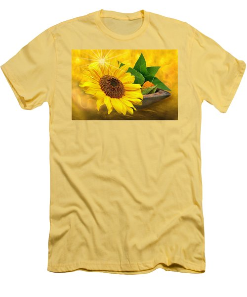 Golden Sunflower Men's T-Shirt (Athletic Fit)