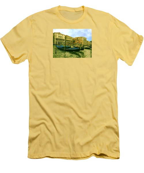 Men's T-Shirt (Athletic Fit) featuring the photograph Golden Venice by Anne Kotan
