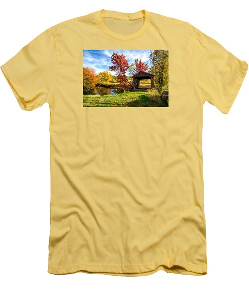 Men's T-Shirt (Slim Fit) featuring the photograph Grafton, New Hampshire by Robert Clifford