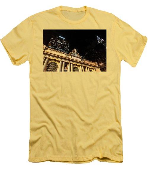 Grand Central Nocturne Men's T-Shirt (Slim Fit) by Steven Richman