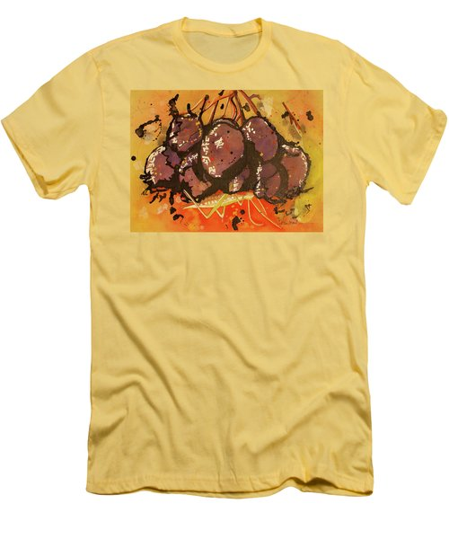 Men's T-Shirt (Slim Fit) featuring the painting Grasshopper by Cynthia Powell