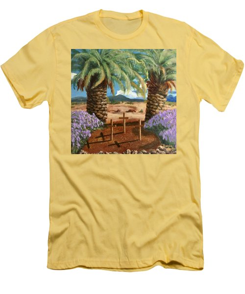 Men's T-Shirt (Slim Fit) featuring the painting Gratitude Reminder  by Bonnie Heather