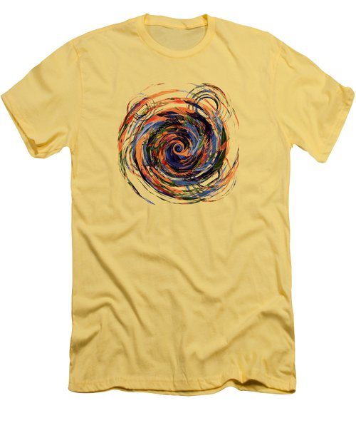 Men's T-Shirt (Slim Fit) featuring the digital art Gravity In Color by Deborah Smith