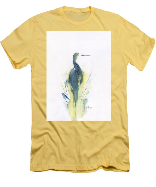 Blue Heron Turning Men's T-Shirt (Athletic Fit)