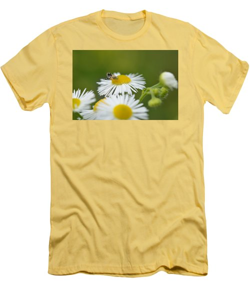 Green Eyes Men's T-Shirt (Slim Fit) by Janet Rockburn