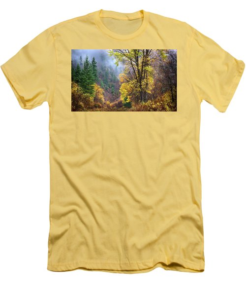 Green Mountain Fall Men's T-Shirt (Athletic Fit)