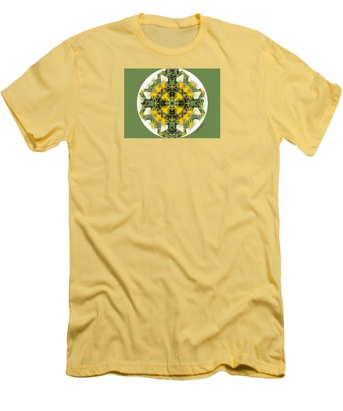 Green Yellow Kaleidoscope Men's T-Shirt (Athletic Fit)