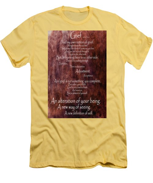 Men's T-Shirt (Slim Fit) featuring the mixed media Grief 3 by Angelina Vick