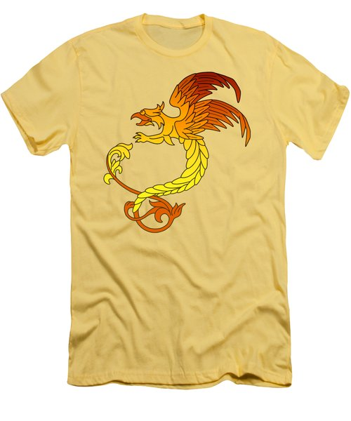 Griffin Griffon Gryphon In Flaming Colours Men's T-Shirt (Athletic Fit)