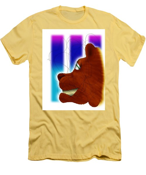 Grin And Bear It Men's T-Shirt (Slim Fit) by Ismael Cavazos