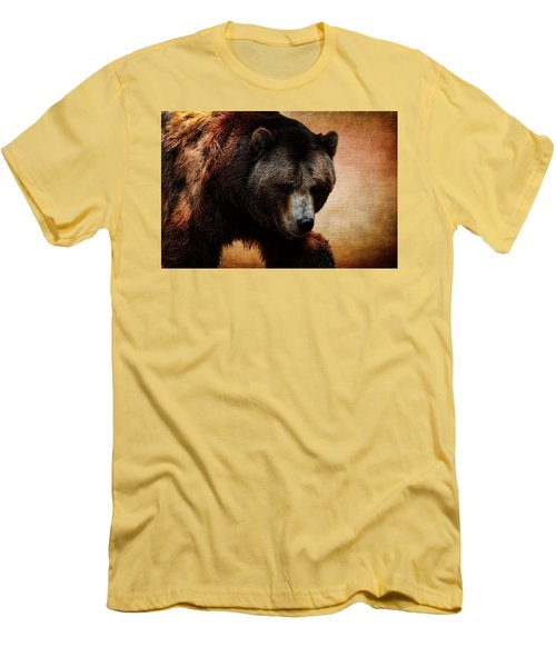 Grizzly Bear Men's T-Shirt (Slim Fit) by Judy Vincent