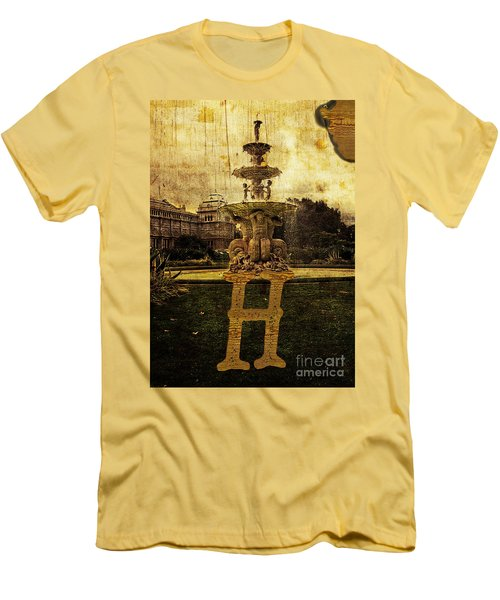 Grungy Melbourne Australia Alphabet Series Letter H Hochgurtel F Men's T-Shirt (Athletic Fit)