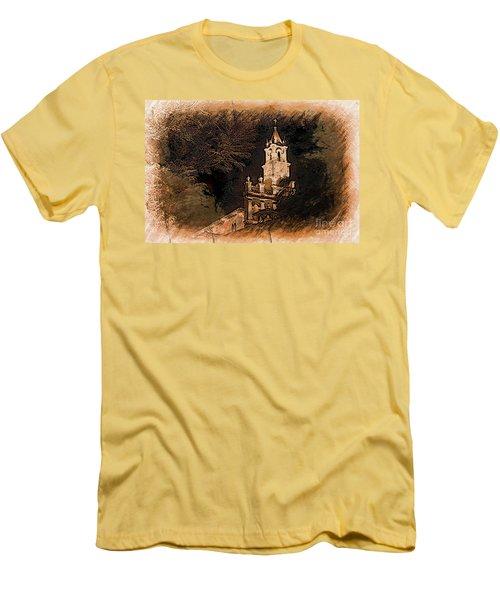 Grungy Todos Santos Men's T-Shirt (Slim Fit) by Al Bourassa