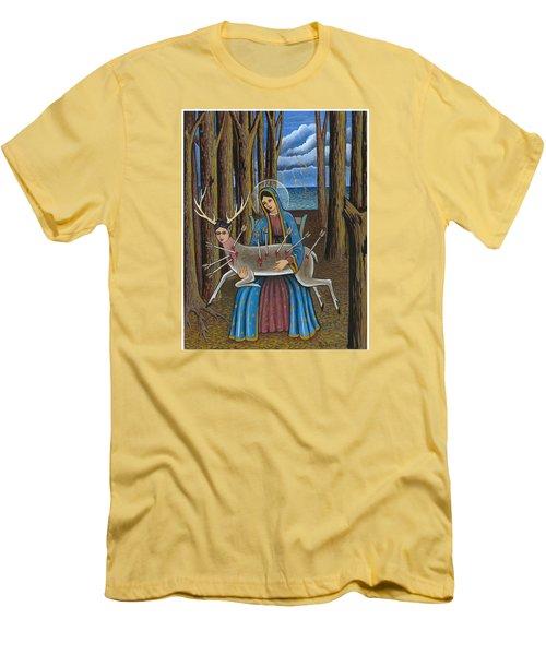 Guadalupe Visits Frida Kahlo Men's T-Shirt (Slim Fit) by James Roderick
