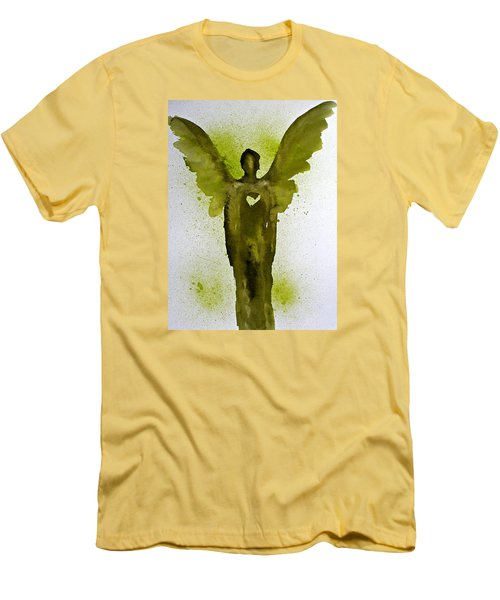 Guardian Angels Golden Heart Men's T-Shirt (Athletic Fit)