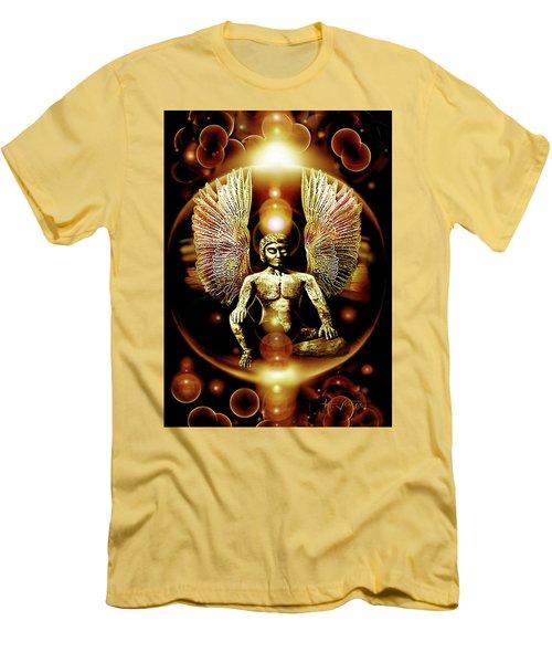 Guardian  Archangel Men's T-Shirt (Slim Fit) by Hartmut Jager