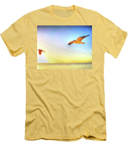 Gull In Sky Men's T-Shirt (Athletic Fit)