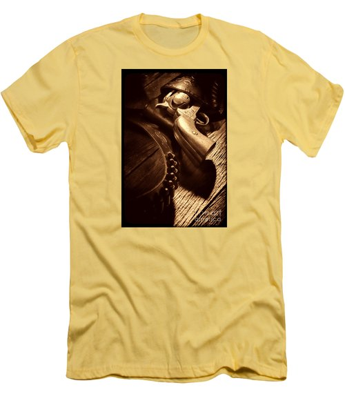 Gunslinger Tool Men's T-Shirt (Slim Fit) by American West Legend By Olivier Le Queinec