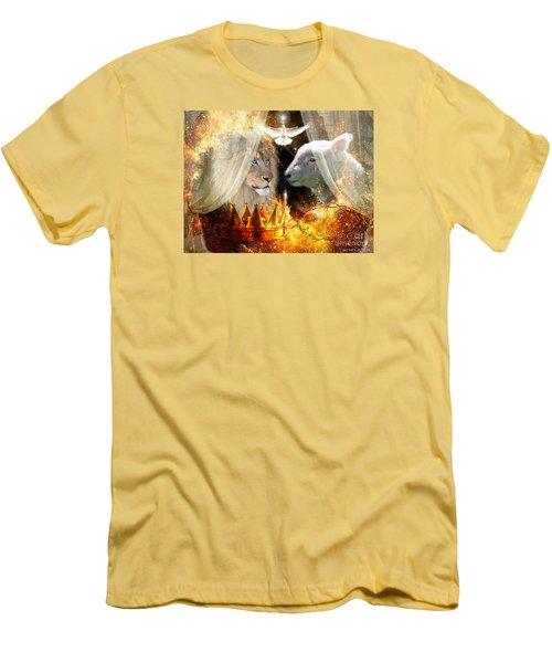 Ha-shilush Ha-kadosh  Men's T-Shirt (Slim Fit) by Dolores Develde