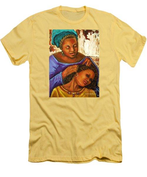 Hair Braiding Men's T-Shirt (Slim Fit) by Alga Washington