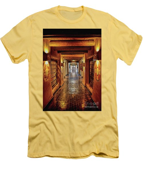 Men's T-Shirt (Slim Fit) featuring the photograph Halls Of Loretto by Gina Savage