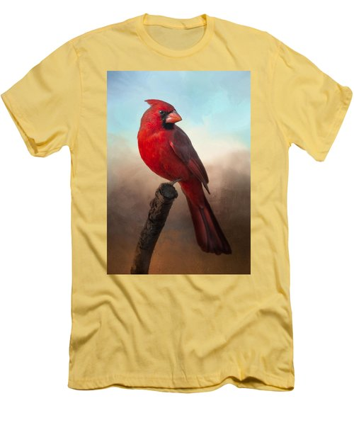 Handsome Cardinal Men's T-Shirt (Slim Fit) by Barbara Manis