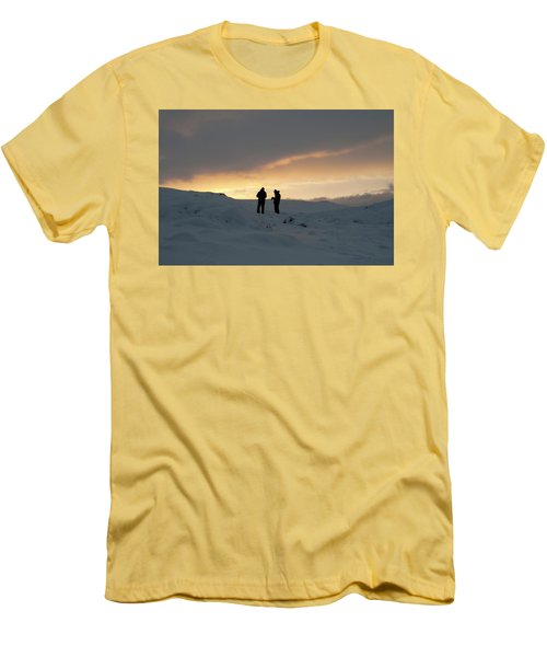 Men's T-Shirt (Athletic Fit) featuring the photograph Hanging Around Iceland by Dubi Roman