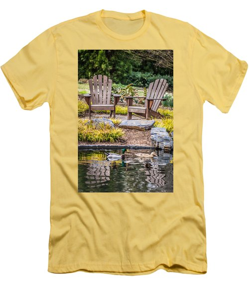 Happiness Goes On Men's T-Shirt (Slim Fit) by Wade Brooks