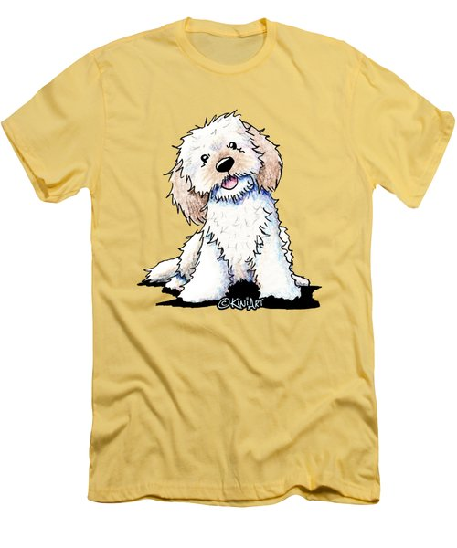 Happy Doodle Puppy Men's T-Shirt (Athletic Fit)