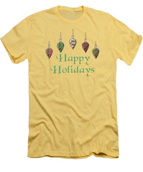 Happy Holidays Merry Christmas Men's T-Shirt (Athletic Fit)