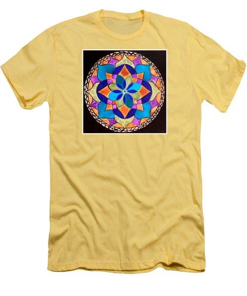 Happy Mandala  Men's T-Shirt (Slim Fit)