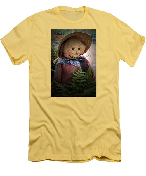 Men's T-Shirt (Slim Fit) featuring the photograph Happy Scarecrow by Karen Harrison