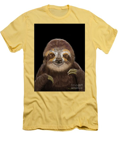 Happy Sloth Men's T-Shirt (Slim Fit) by Thomas J Herring