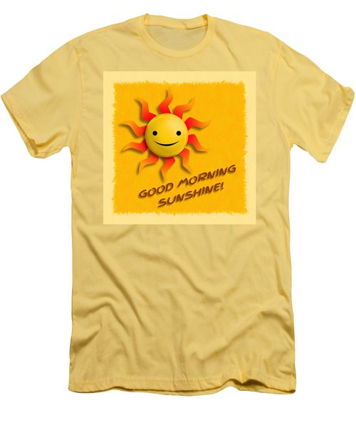 Happy Sun Face Men's T-Shirt (Athletic Fit)