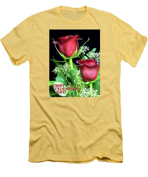Men's T-Shirt (Slim Fit) featuring the photograph Happy Valentines Day by Sandi OReilly