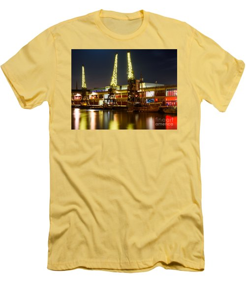 Harbour Cranes Men's T-Shirt (Slim Fit) by Colin Rayner