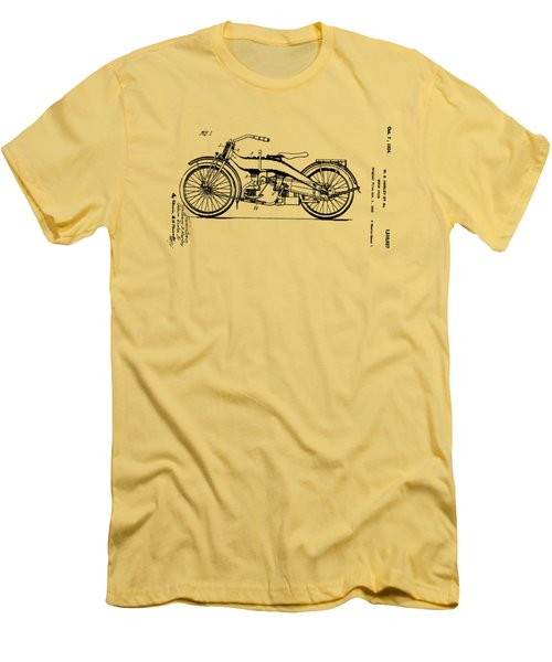 Harley Motorcycle Patent Men's T-Shirt (Athletic Fit)
