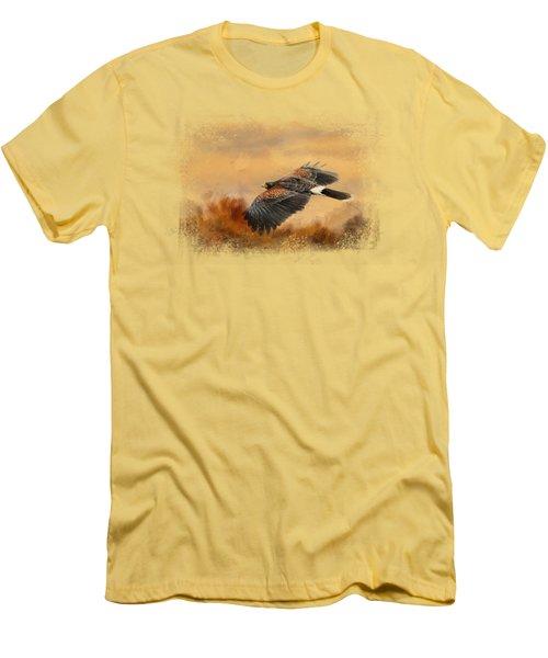 Harris Hawk In Autumn Men's T-Shirt (Athletic Fit)