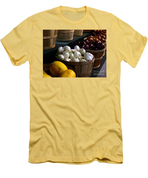 Men's T-Shirt (Slim Fit) featuring the photograph Harvest by Elfriede Fulda